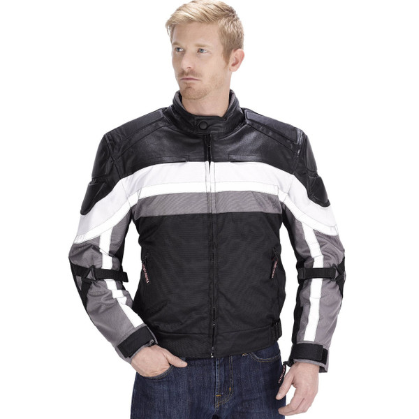 VikingCycle Hammer Motorcycle Jacket for Men Front Image