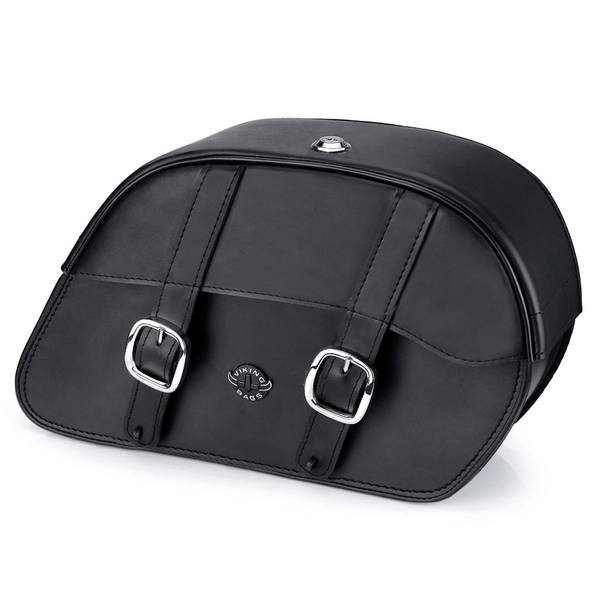 Harley Softail Fatboy FLSTF Charger Medium Slanted Leather Saddlebags 1