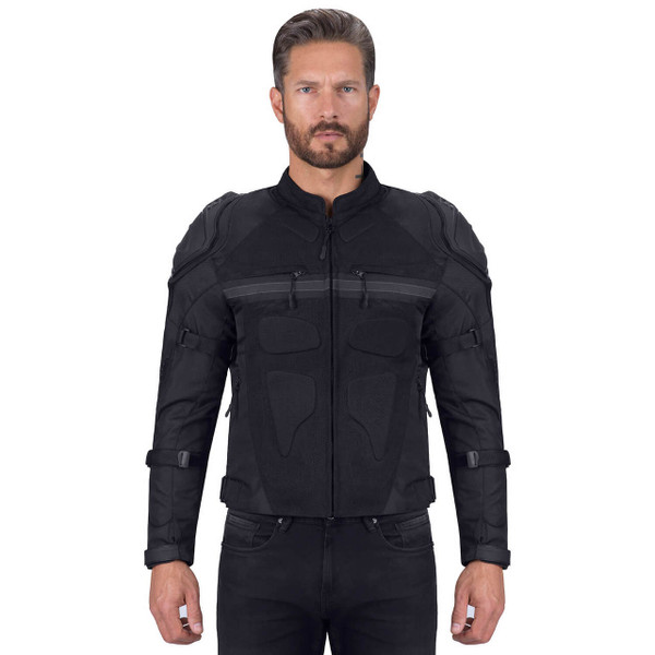 VikingCycle Stealth Motorcycle Jacket for Men