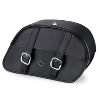 Triumph Rocket III Roadster Charger Slanted Leather Saddlebags