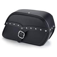 Victory V92C Charger Single Strap Studded Leather Saddlebags 1