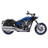 Victory Hammer Charger Single Strap Studded Leather Saddlebags 2