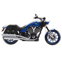 Victory Hammer Charger Slanted Leather Saddlebags 2