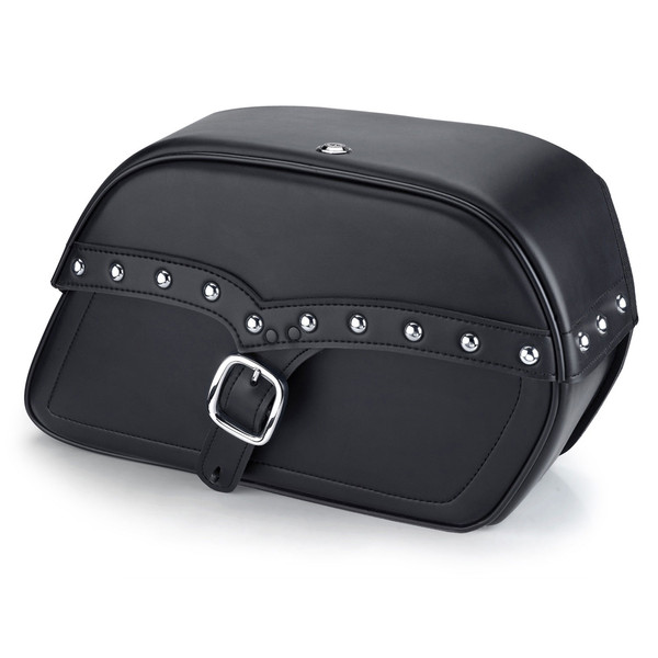 Triumph America Charger Single Strap Studded Leather Saddlebags