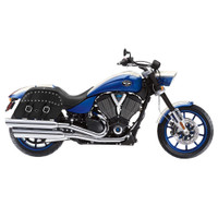 Victory Hammer Charger Slanted Studded Leather Saddlebags 2