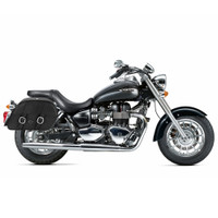 Triumph America Charger Slanted Leather Saddlebags