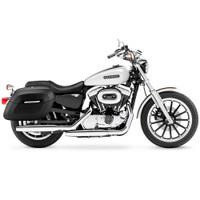 Harley Sportster 1200 Low XL1200L Lamellar Shock Cutout Covered Hard Saddlebags 2