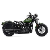 Harley Softail Cross Bones FLSTSB Overlord Large Side Pocket Saddlebags  2