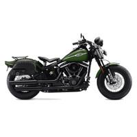 Harley Softail Cross Bones FLSTSB Side Pocket Studded Leather Saddlebags