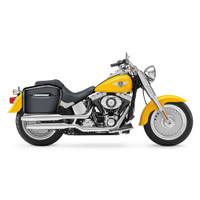 Harley Softail Fatboy FLSTF Lamellar Large Black Hard Saddlebags 2