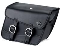 Harley Softail Cross Bones FLSTSB Thor Series Small Leather Saddlebags