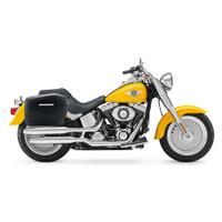 Harley Softail Fatboy FLSTF Lamellar Large Covered Hard Saddlebags