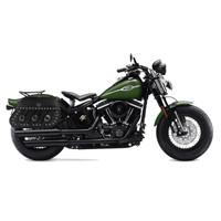 Harley Softail Cross Bones FLSTSB Trianon Studded Leather Saddlebags 2