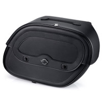 Harley Sportster SuperLow Spear Shock Cutout Leather Saddlebags