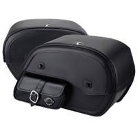 Harley Softail Fatboy FLSTF Side Pocket Leather Saddlebags 4
