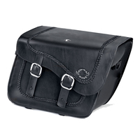 Harley Softail Custom FXSTC Charger Braided Leather Saddlebags