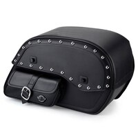Triumph America Side Pocket Studded Leather Saddlebags