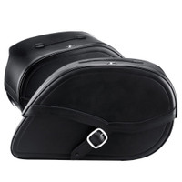 Triumph America Armor Shock Cutout Leather Saddlebags