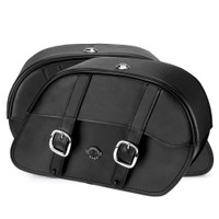 Triumph Rocket III Roadster Shock Cutout Large Slanted Leather Saddlebags