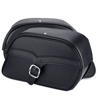 Triumph Thunderbird Charger Large Single Strap Leather Saddlebags 2