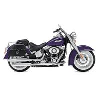 Harley Softail Deluxe FLSTN Charger Medium Studded Leather Saddlebags 1