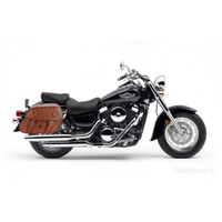 Kawasaki Vulcan 1500 Classic Viking Odin Brown Large Motorcycle Saddlebags 02