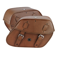Yahama V Star 650 Classic, XVS65A Viking Odin Brown Large Motorcycle Saddlebags