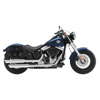 Viking Trianon Motorcycle Saddlebags For Harley Softail Slim 02