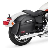 Viking Lamellar Slanted Extra Large Matte Black Motorcycle Hard Saddlebags For Harley Softail Slim 05