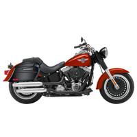 Viking Lamellar Slanted Painted Motorcycle Hard Saddlebags For Harley Softail Slim 05