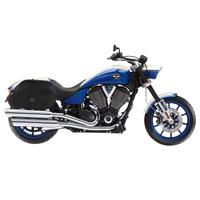 Viking Hammer Extra Large Motorcycle Saddlebags For Harley Softail Slim On Bike View