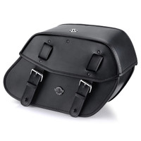 Viking Odin Large Motorcycle Saddlebags For Harley Softail Slim