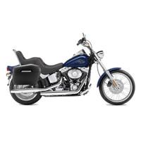 Viking Lamellar Leather Covered Hard Large Motorcycle Saddlebags For Harley Softail Slim 02