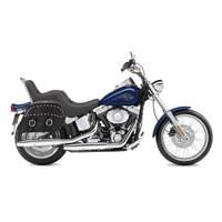 Harley Softail Custom FXSTC Charger Large Slanted Studded Leather Saddlebags