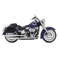 Harley Softail Deluxe FLSTN Warrior Series Saddlebags 2