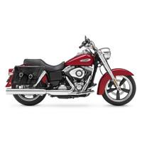 Viking Charger Braided Medium Motorcycle Saddlebags For Harley Softail Slim 02
