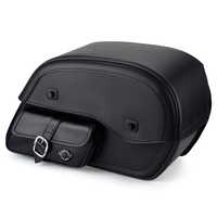 Viking Universal Side Pocket SS Large Motorcycle Saddlebags For Harley Softail Slim 01
