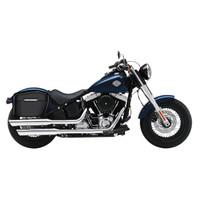 Viking Lamellar Matte Extra Large Hard Motorcycle Saddlebags For Harley Softail Slim 02