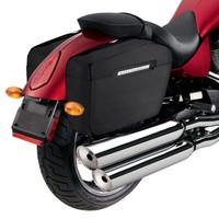 Viking Lamellar Matte Extra Large Hard Motorcycle Saddlebags For Harley Softail Slim 06