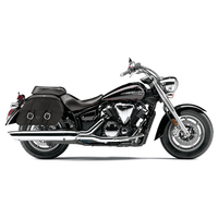 Yamaha V Star 1300 Classic Charger Medium Slanted Leather Saddlebags