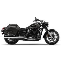 Vikingbags Yamaha V Star 950 Side Pocket Studded Motorcycle Saddlebags On Bike View