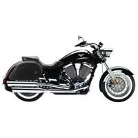 Victroy Boardwalk Ultimate Shape Plain Motorcycle Saddlebags 1