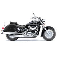 Suzuki Intruder 800 Ultimate Shape Studded Motorcycle Saddle Bags 1