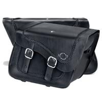 Harley Softail Heritage FLSTC Charger Braided Leather Saddlebags