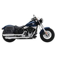 Yamaha Stryker Viking Odin Studded Large Leather Motorcycle Saddlebags 02