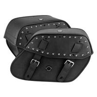 Vikingbags Yamaha V Star 950 Classic Viking Odin Studded Large Leather Motorcycle Saddlebags Both Bags View