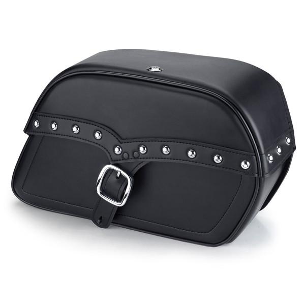 Harley Softail Heritage FLSTC Charger Large Single Strap Leather Saddlebags