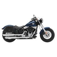 Viking Warrior Large Motorcycle Saddlebags For Harley Softail Slim 02