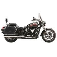 Vikingbags Honda 1500 Valkyrie Interstate Viking Warrior Series Motorcycle SaddleBags On Bike View