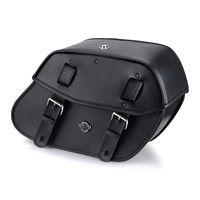 Honda 1500 Valkyrie Tourer Viking Odin Medium Leather Motorcycle Saddlebags